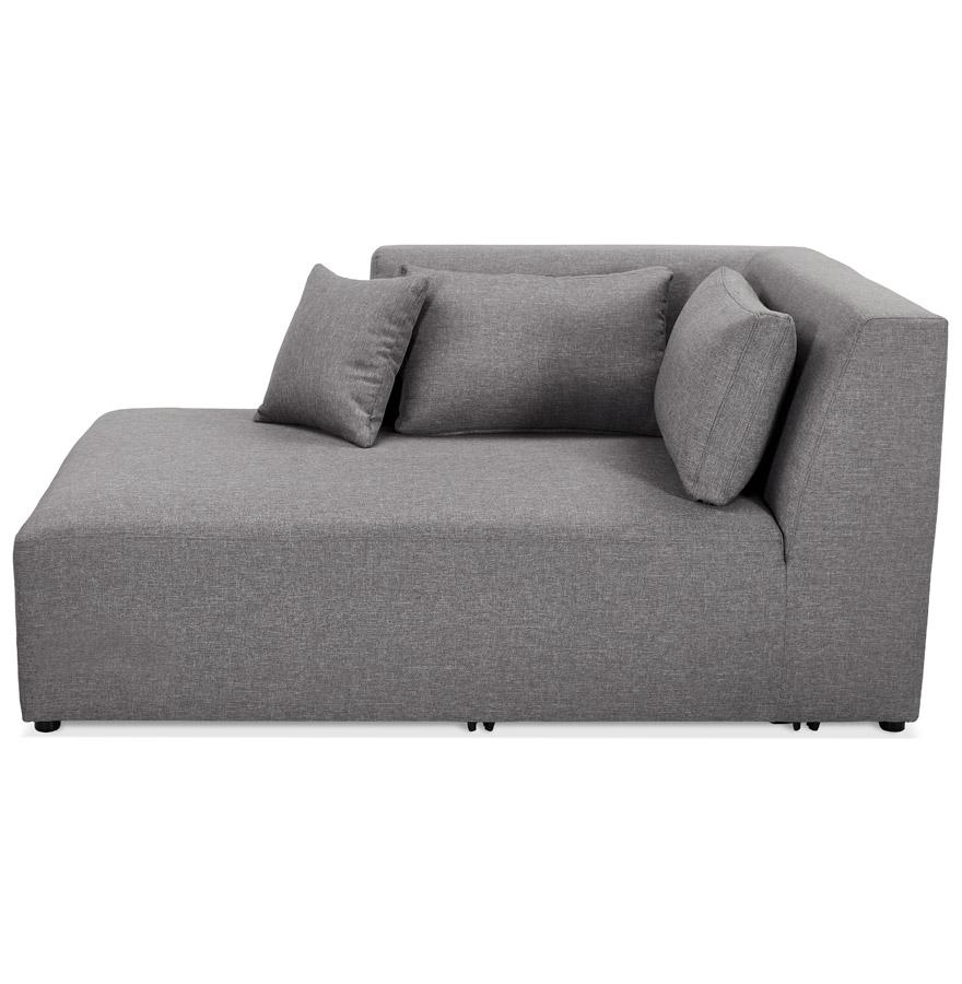 belagio longchair grey h2 02b left - Élément de canapé modulable ´BELAGIO LONGCHAIR´ gris clair - méridienne angle gauche