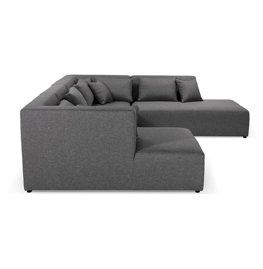 belagio u shape dark grey h2 03 - Canapé en U avec méridienne ´BELAGIO U SHAPE´ gris foncé - canapé modulable (angle à droite)