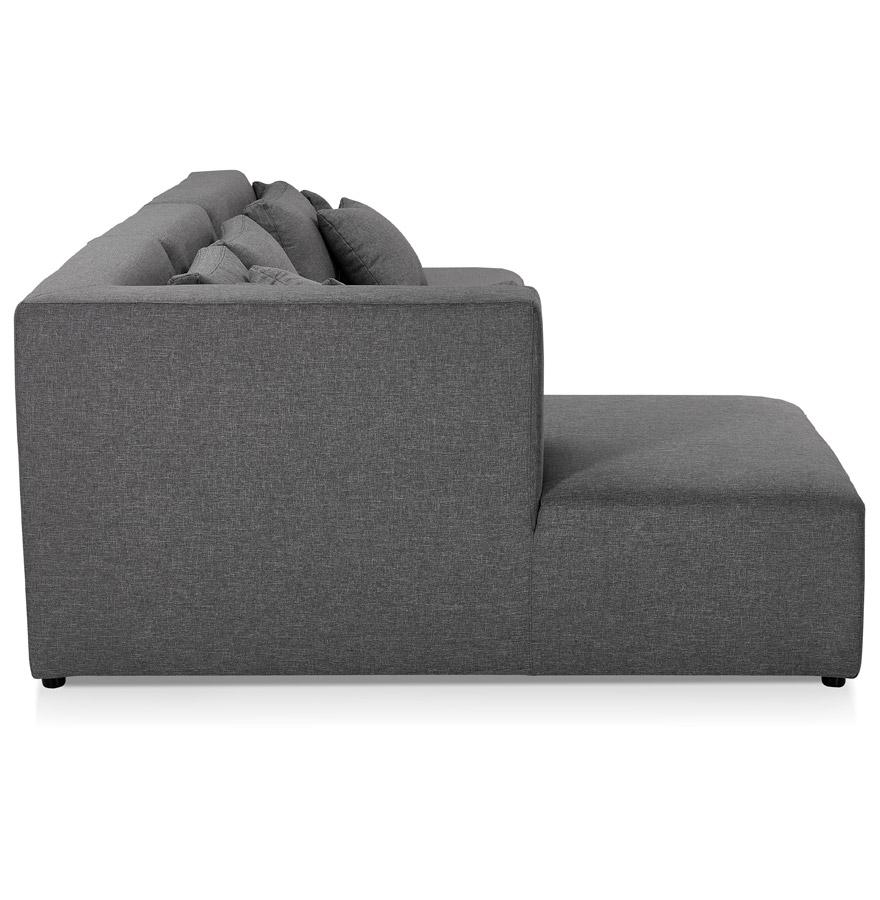 Canapé modulable design ´BELAGIO XL´ gris foncé (angle à gauche)