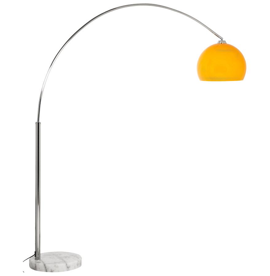 bigbowxl orange newsite 01 - Lampadaire design en arc ´BIG BOW XL´ abat-jour orange