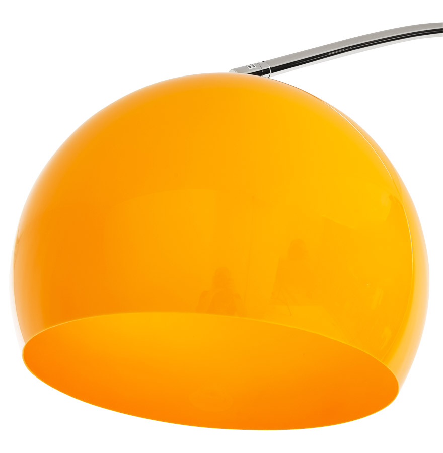 bigbowxl orange newsite 04 1 - Lampadaire design en arc ´BIG BOW XL´ abat-jour orange