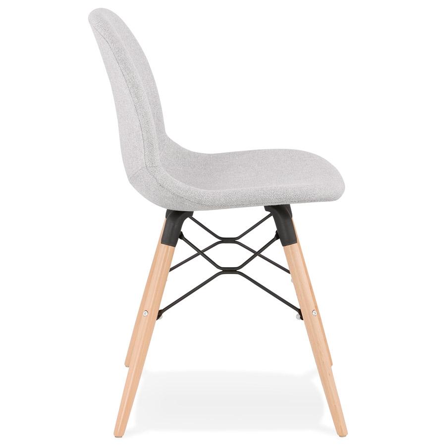 Chaise scandinave ´BIZON´ en tissu gris clair
