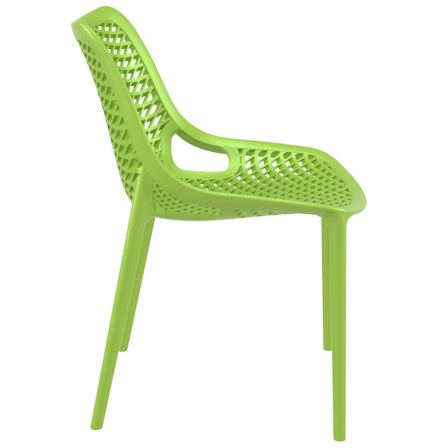 blow green newsite 03 1 - Chaise moderne ´BLOW´ verte en matière plastique