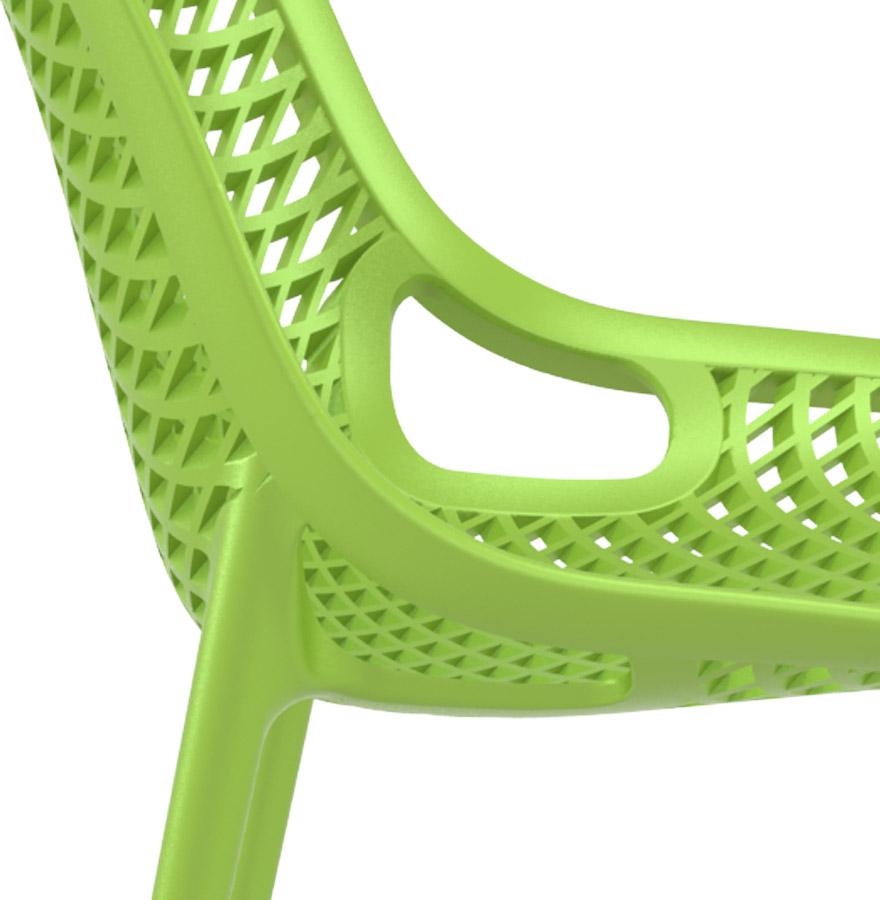 chaise design blow chaise moderne verte en mati re plastique. Black Bedroom Furniture Sets. Home Design Ideas