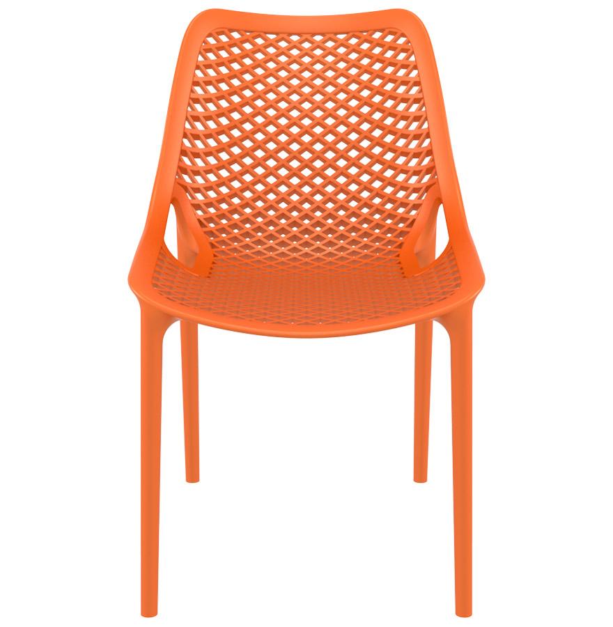 Chaise moderne ´BLOW´ orange en matière plastique