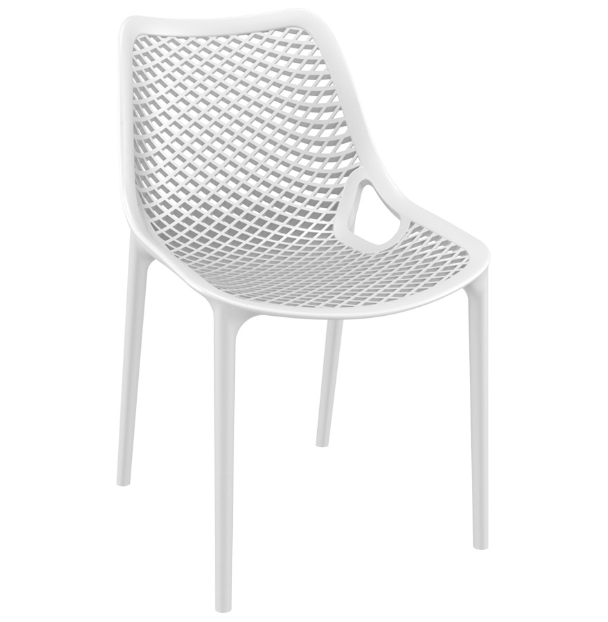 Chaise design blow chaise moderne blanche en mati re plastique - Chaise blanche plastique ...