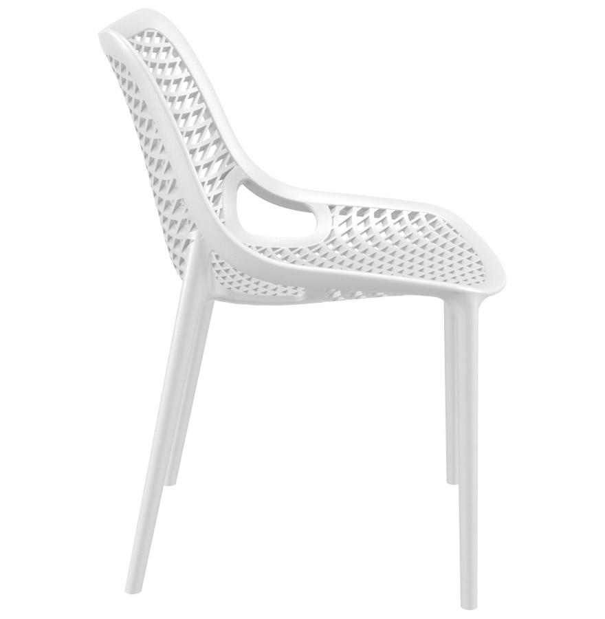 chaise design blow chaise moderne blanche en mati re plastique. Black Bedroom Furniture Sets. Home Design Ideas