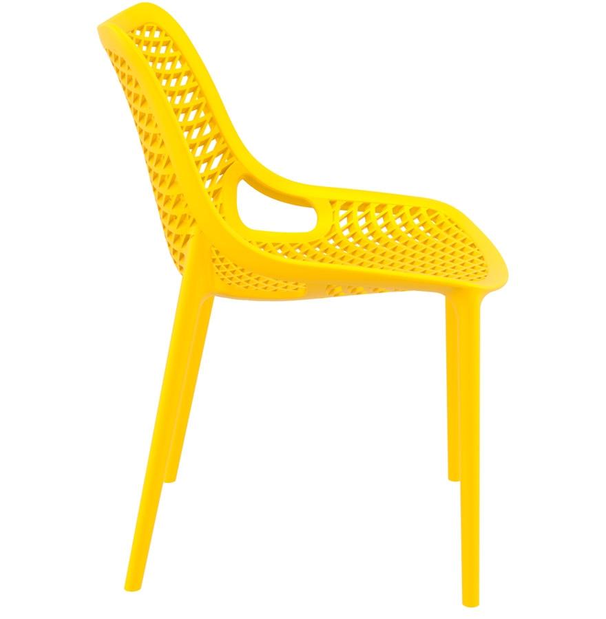 Chaise moderne ´BLOW´ jaune en matière plastique