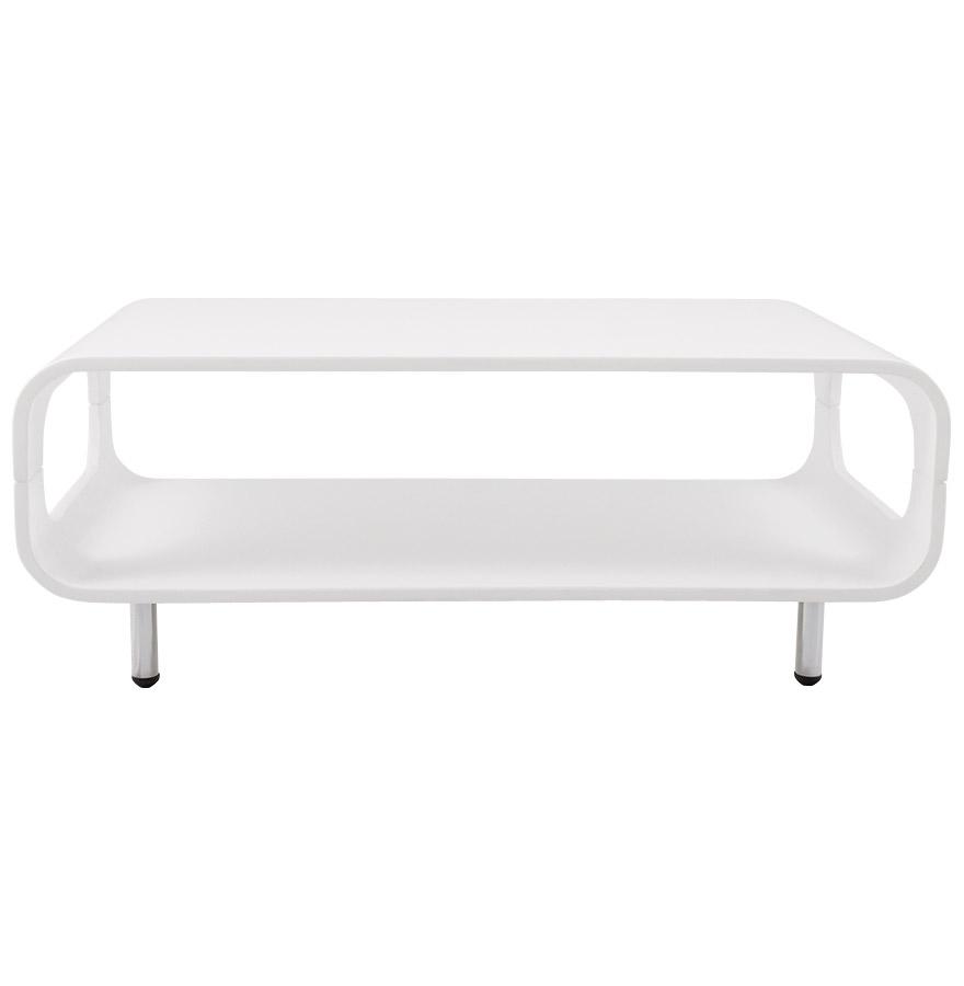 Table basse design ´BOA´ en bois blanc