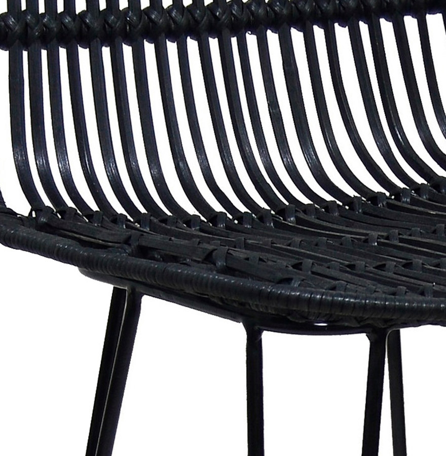 barkruk bocadia in zwart rotan designkruk. Black Bedroom Furniture Sets. Home Design Ideas
