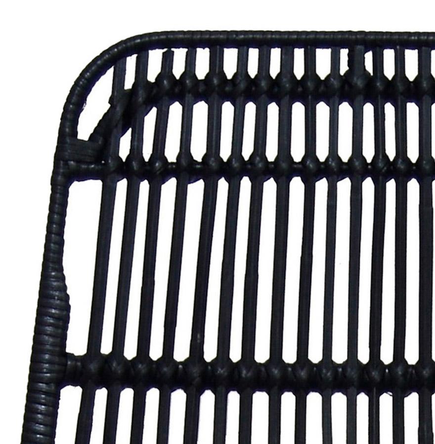 halfhoge barkruk bocadia mini in zwart rotan designkruk. Black Bedroom Furniture Sets. Home Design Ideas
