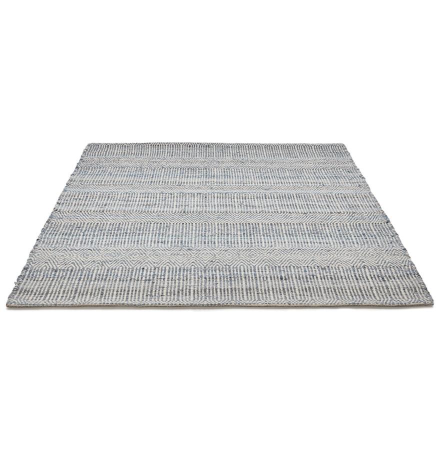 Tapis design ´BOLLYWOOD´ 160x230 cm en jeans et laine