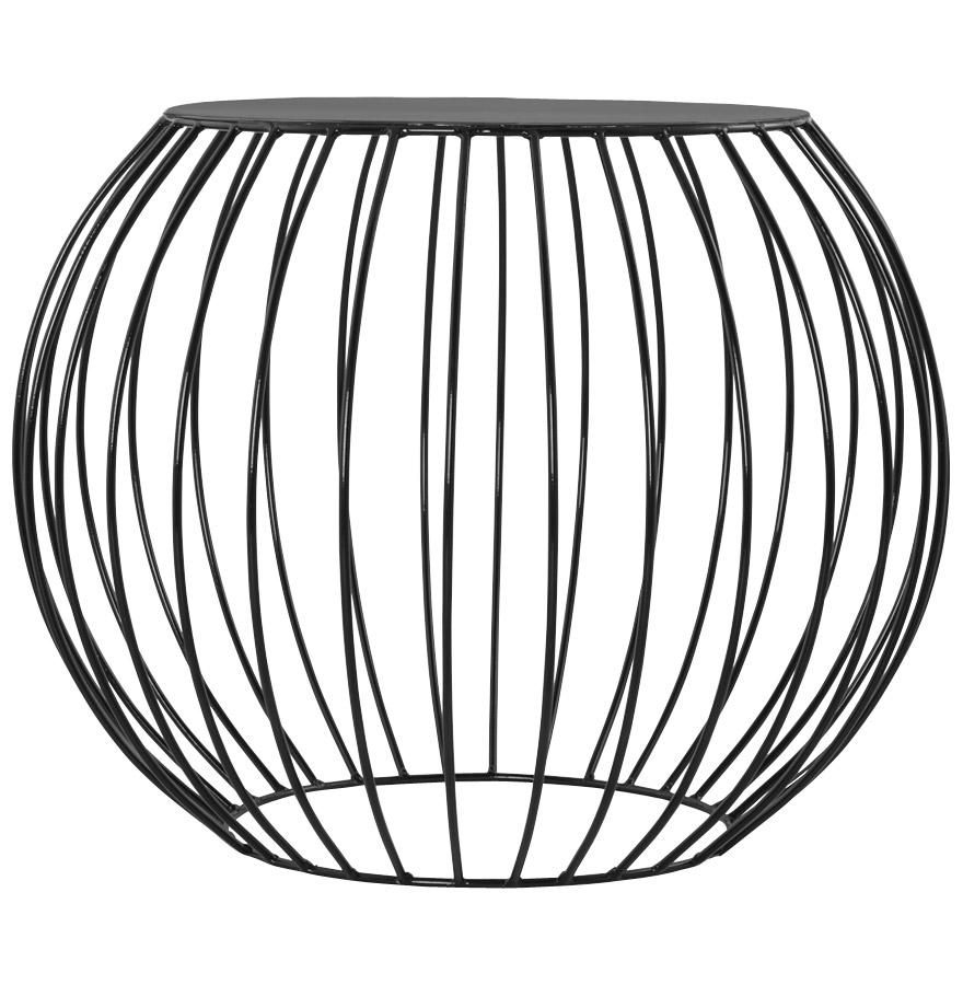 bouli black newsite 02 2 - Table d´appoint ´BOULI´ en métal peint noir
