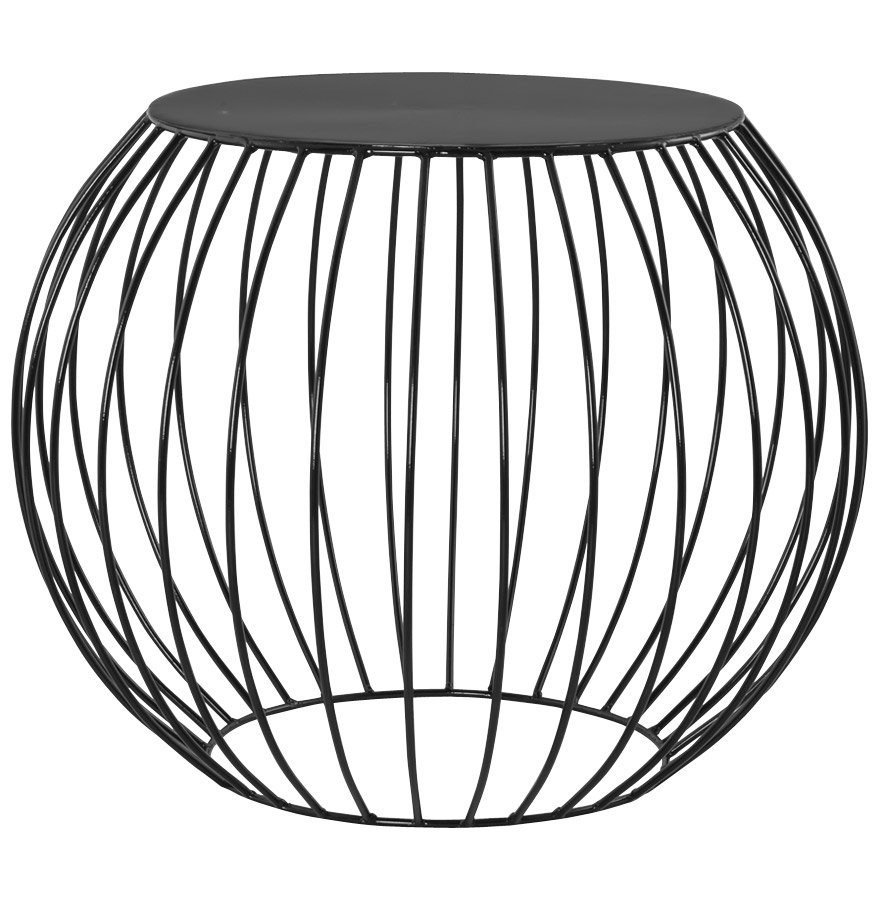 bouli black newsite 03 2 - Table d´appoint ´BOULI´ en métal peint noir