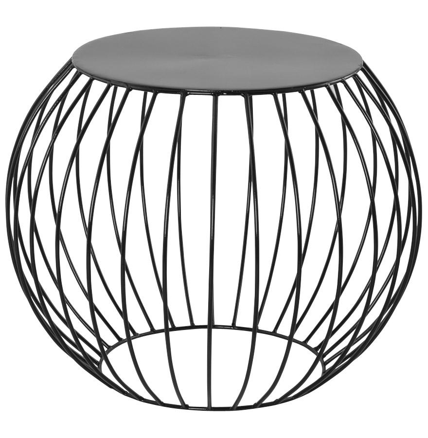 Table d 39 appoint ronde bouli en aluminium peint noir - Table ronde aluminium ...