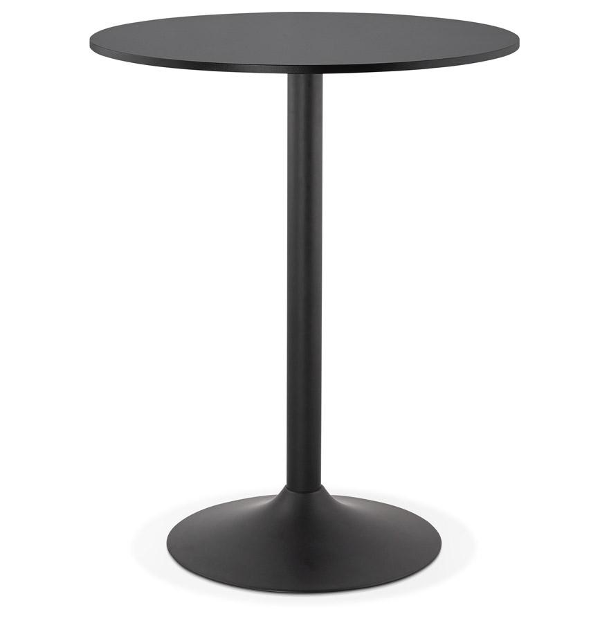 Mange-debout / table haute ´BRASILIA´ noire - Ø 90 cm