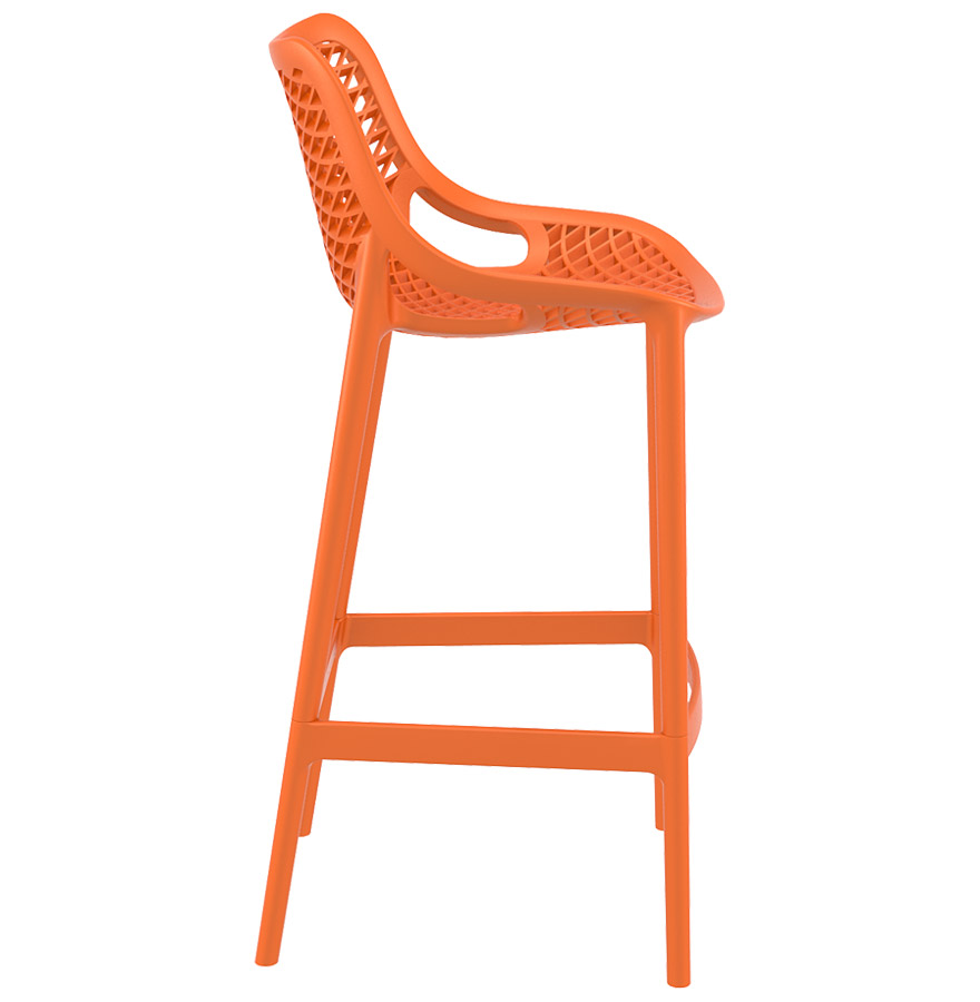 brozer orange 05 - Tabouret de jardin ´BROZER´ orange empilable en matière plastique