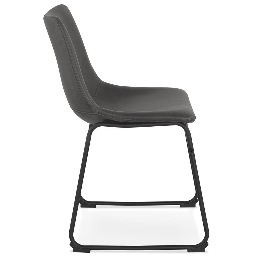 Chaise vintage ´BUFFALO´ grise foncée