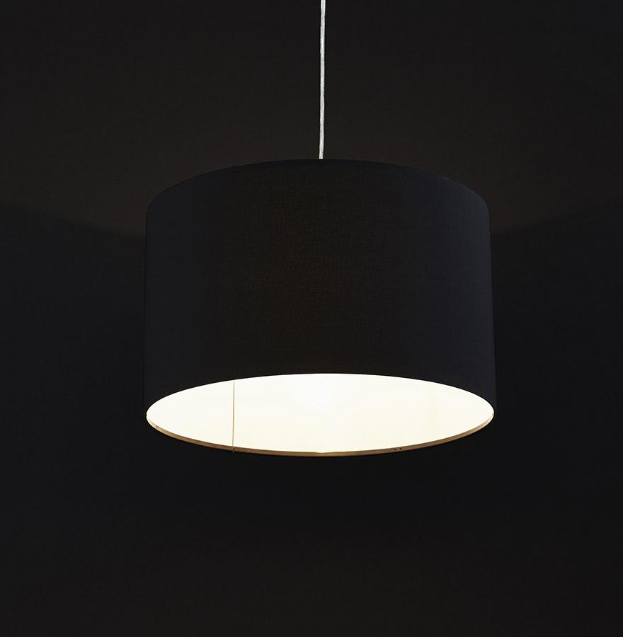Suspension bungee ronde en tissu noir lustre design for Suspension ronde design