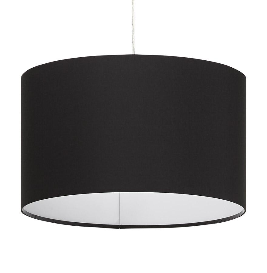bungee black psd h1 01 - Suspension ´BUNGEE´ ronde avec abat-jour noir