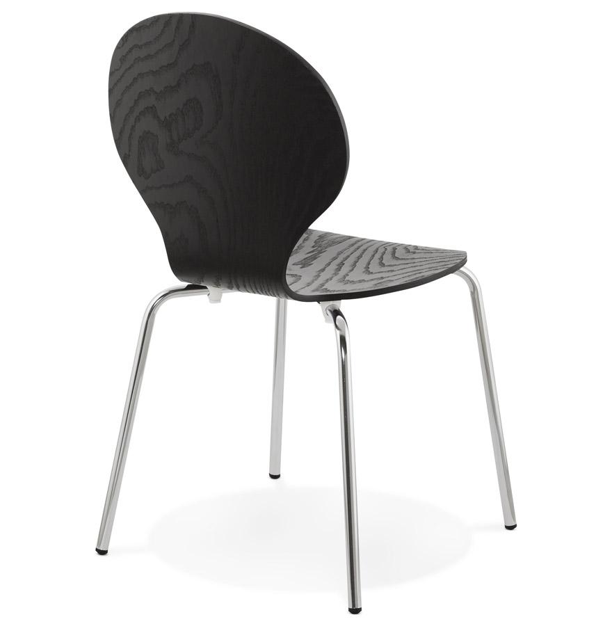 chaise de cuisine en bois noir chaise moderne buzz. Black Bedroom Furniture Sets. Home Design Ideas