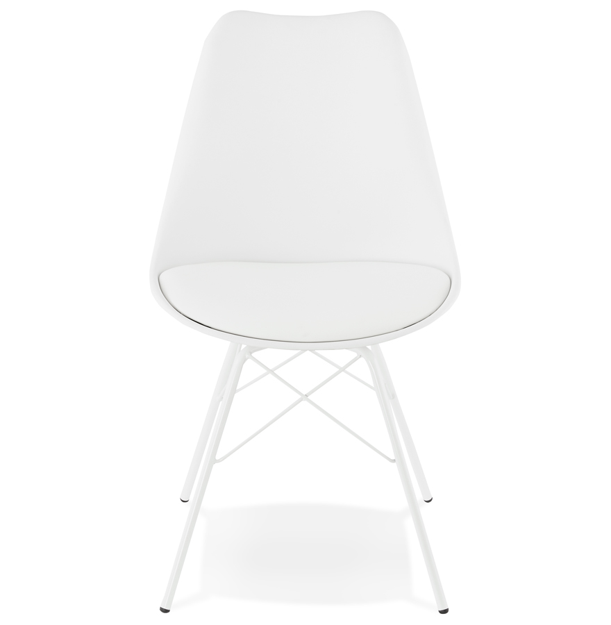Chaise design ´BYBLOS´ blanche style industriel