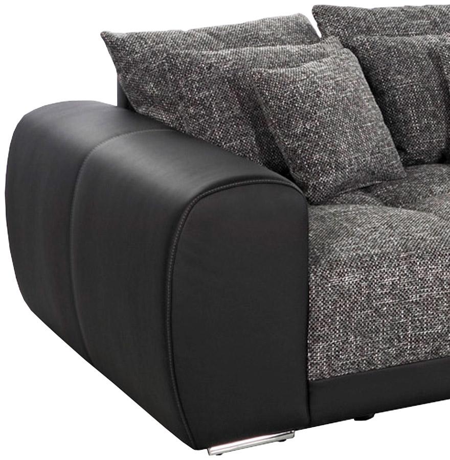 grand canap droit byouty noir canap design 4 places. Black Bedroom Furniture Sets. Home Design Ideas