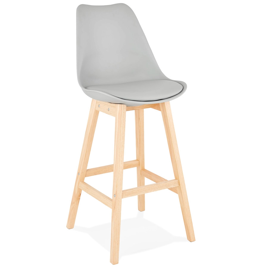 tabouret de bar camila gris style scandinave tabouret design. Black Bedroom Furniture Sets. Home Design Ideas