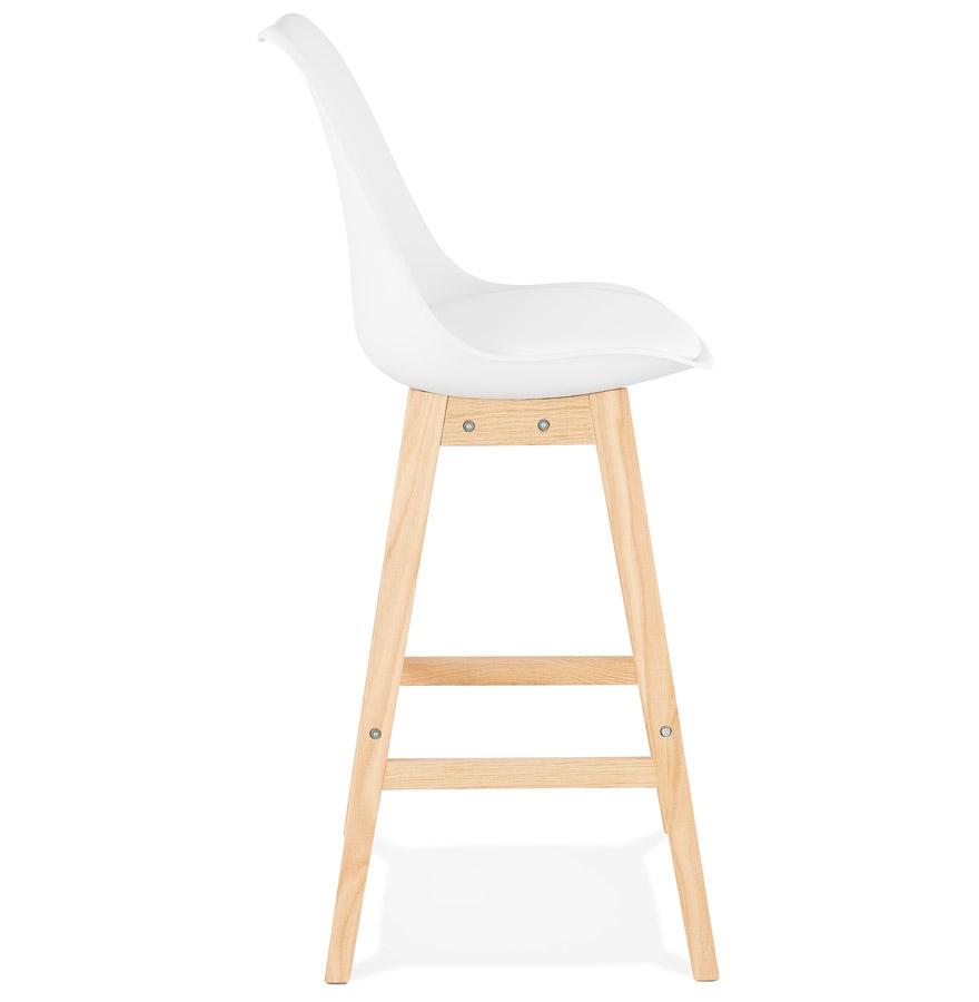 tabouret de bar camila blanc style scandinave tabouret design. Black Bedroom Furniture Sets. Home Design Ideas