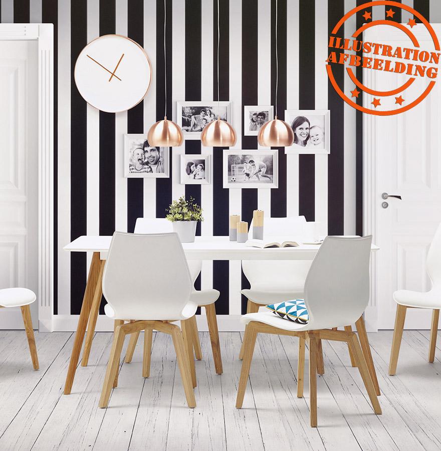 table de cuisine rectangulaire candy blanche bureau droit. Black Bedroom Furniture Sets. Home Design Ideas
