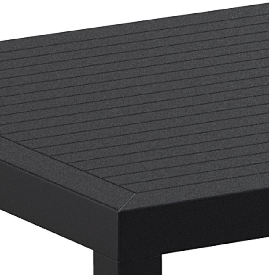 Table de terrasse cantina design en mati re plastique noire - Table terrasse plastique ...