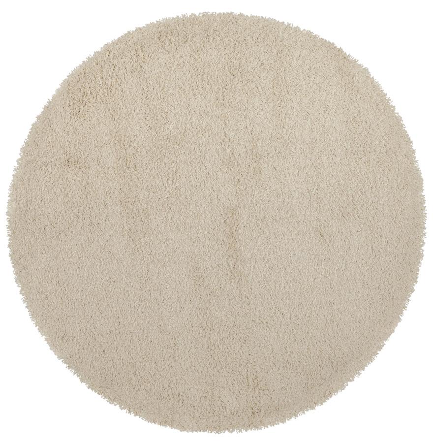 tapis design cava tapis rond poils longs couleur cr me 160 cm. Black Bedroom Furniture Sets. Home Design Ideas