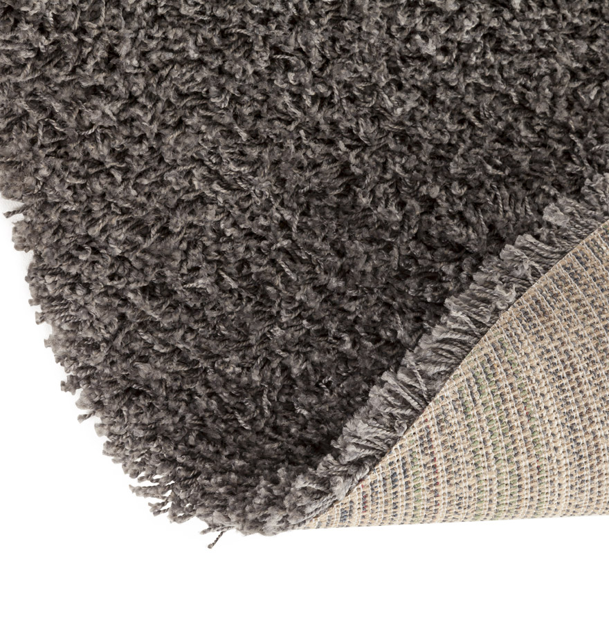tapis design cava tapis rond poils longs gris 160 cm. Black Bedroom Furniture Sets. Home Design Ideas