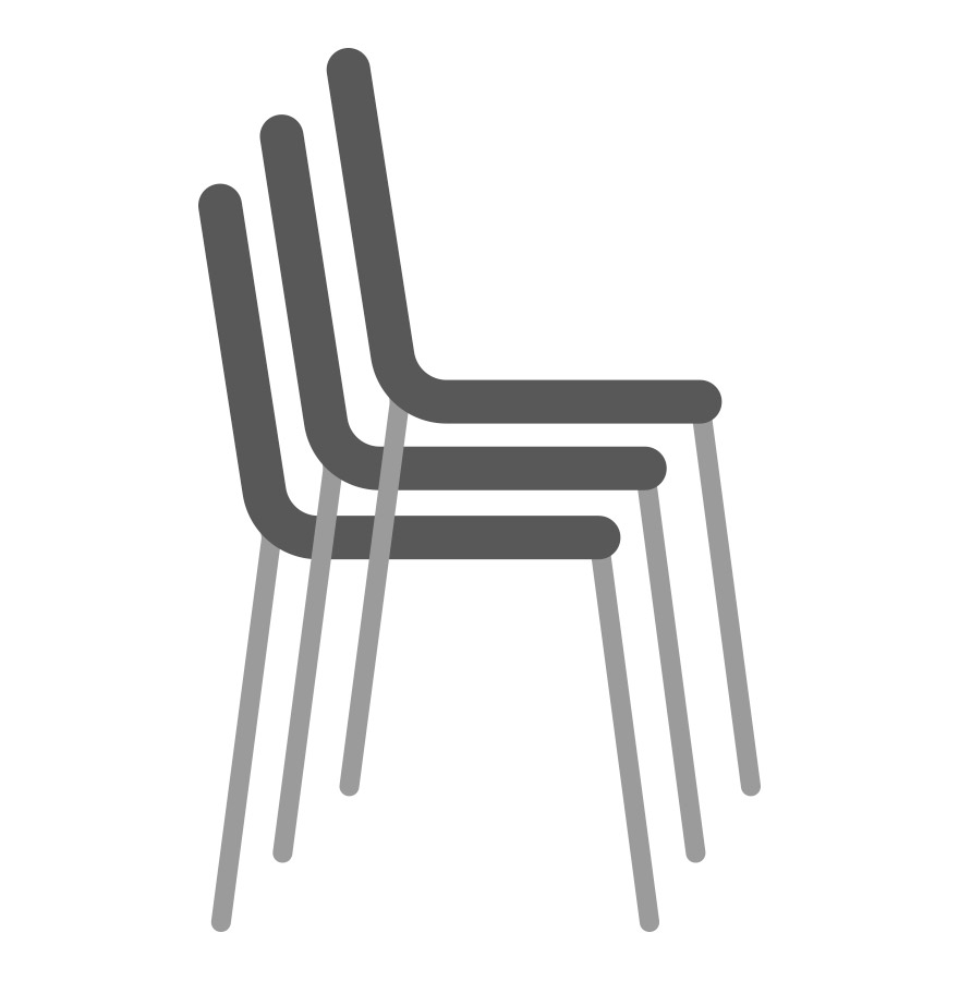 Chaise design plemo xl banc de jardin blanc en mati re plastique - Chaise empilable design ...