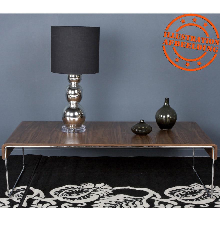 table basse design chik en bois finition noyer table basse de salon. Black Bedroom Furniture Sets. Home Design Ideas