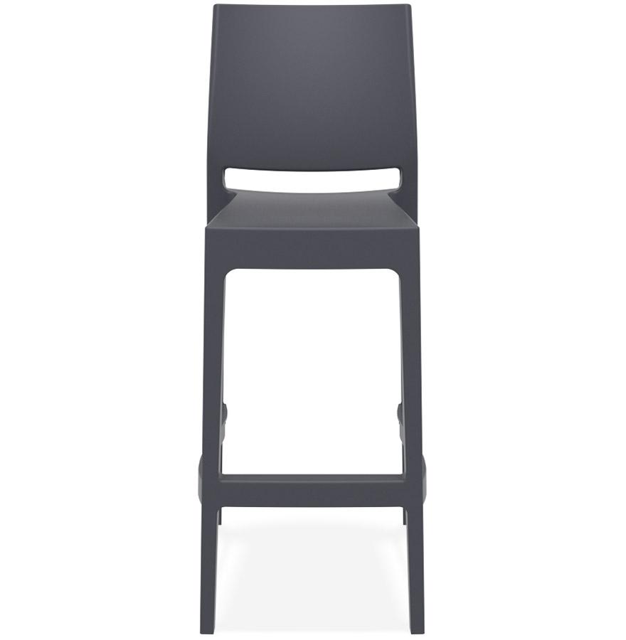 Tabouret de bar ´CLARA´ gris foncé intérieur / extérieur empilable