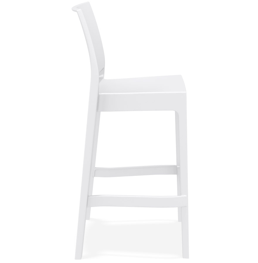 Tabouret de bar ´CLARA´ blanc intérieur / extérieur empilable