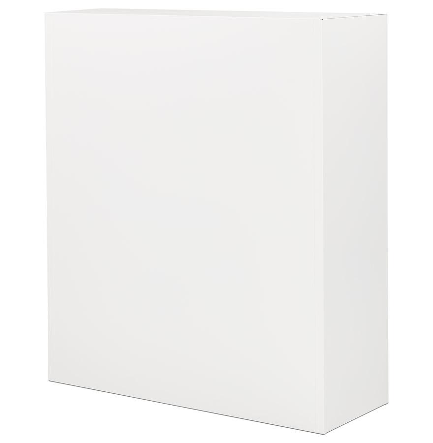 Armoire de bureau rideaux classify blanche mi hauteur for Armoire bureau blanche