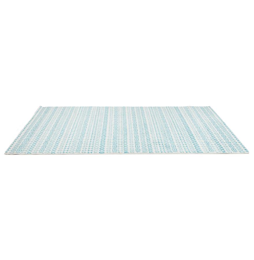 Tapis design ´CLOCLO´ 160/230 cm motifs graphiques bleus
