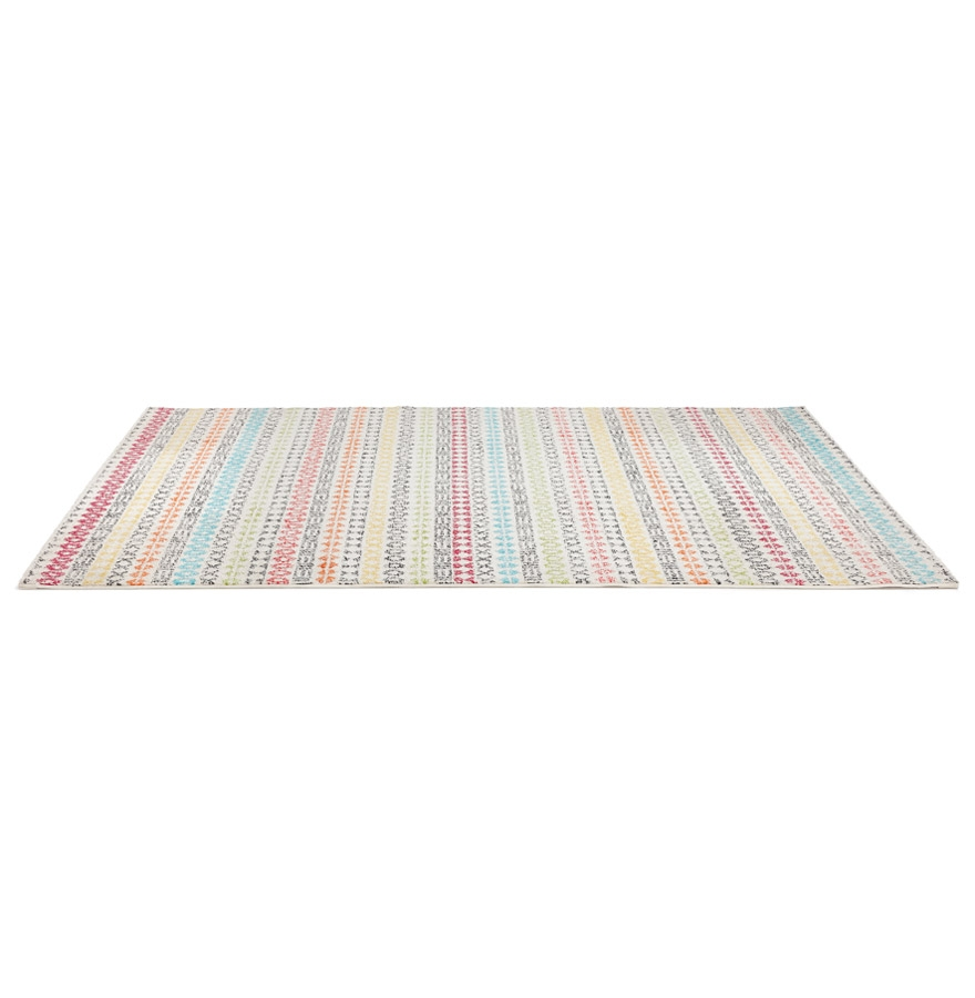 Tapis design ´CLOCLO´ 160/230 cm motifs graphiques multicolores