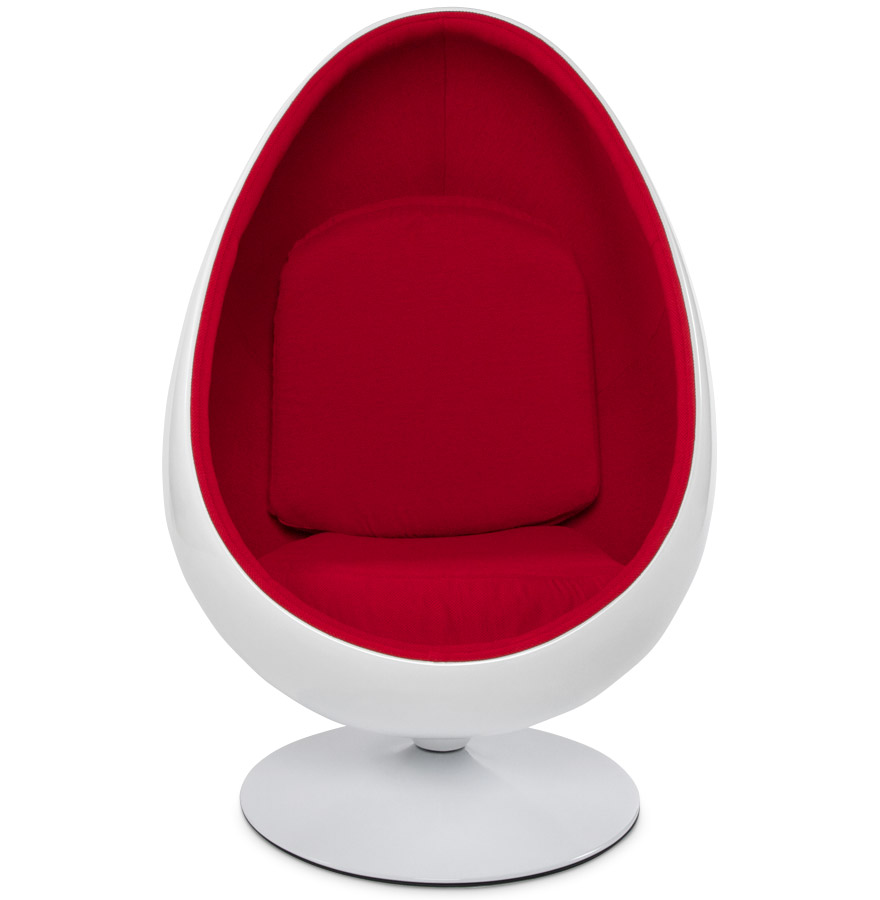 fauteuil uf cocoon blanc et rouge fauteuil egg design. Black Bedroom Furniture Sets. Home Design Ideas