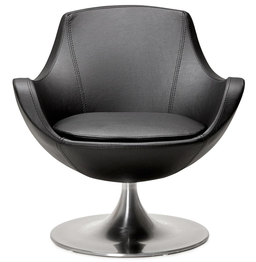 Fauteuil ´COKPIT´ rotatif design en matière synthétique noire