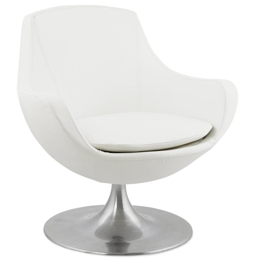 design draaistoel cokpit in wit kunstleder. Black Bedroom Furniture Sets. Home Design Ideas