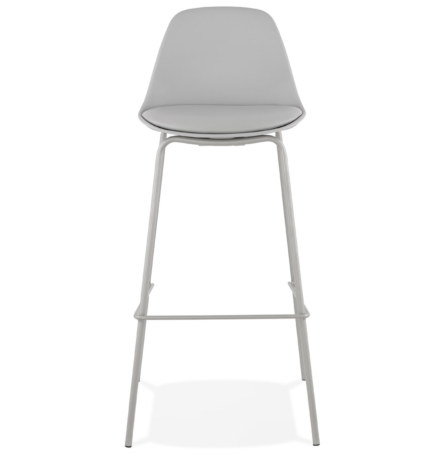 Tabouret de bar ´COOKIE´ gris style industriel