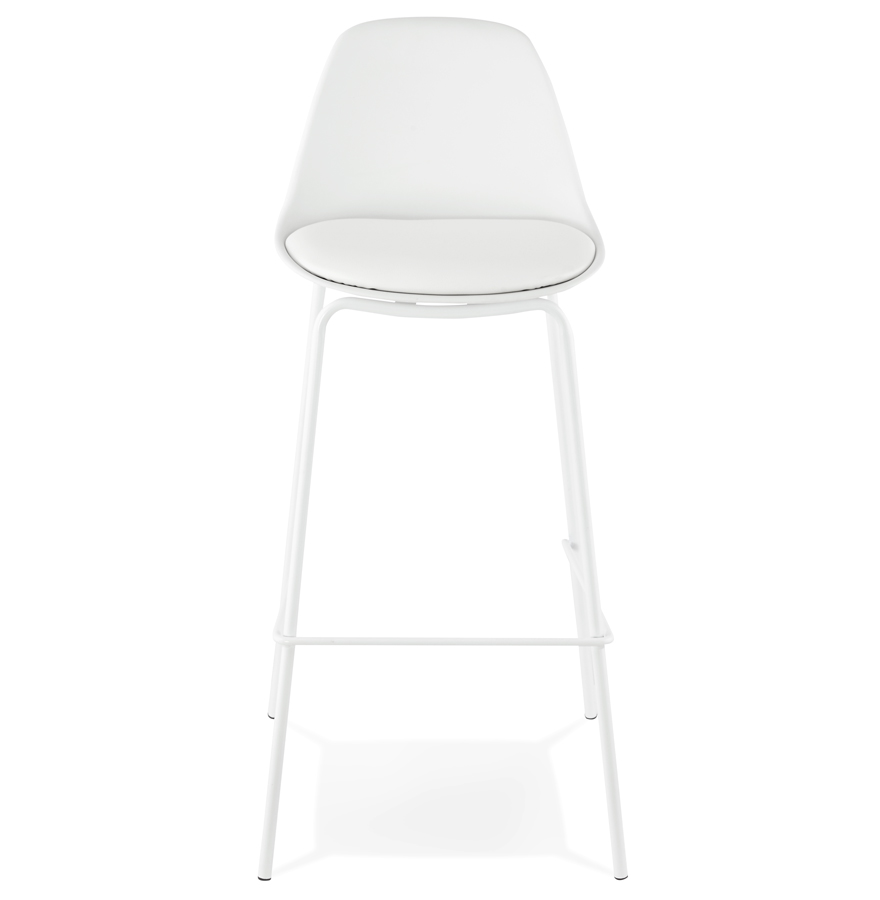 Tabouret de bar ´COOKIE´ blanc style industriel