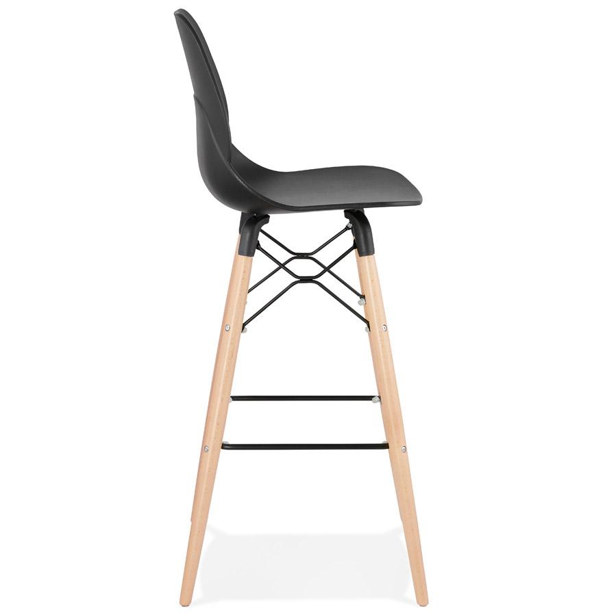 Tabouret de bar design ´COSMIK´ noir style scandinave