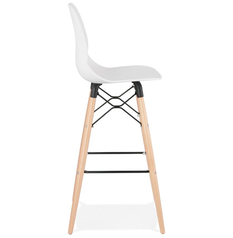 tabouret de bar cosmik blanc tabouret design scandinave. Black Bedroom Furniture Sets. Home Design Ideas