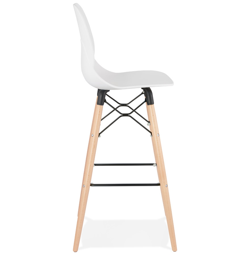Tabouret de bar design ´COSMIK´ blanc style scandinave