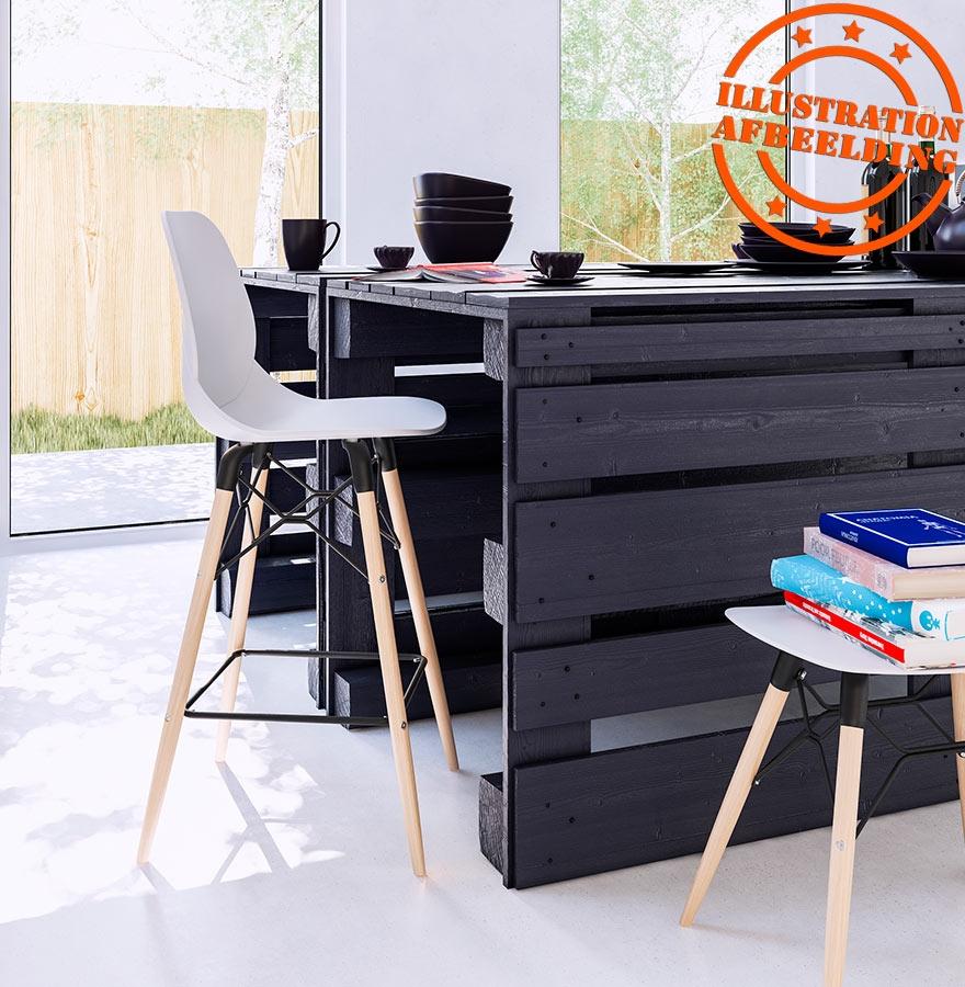 tabouret bas aladin blanc style scandinave tabouret design. Black Bedroom Furniture Sets. Home Design Ideas