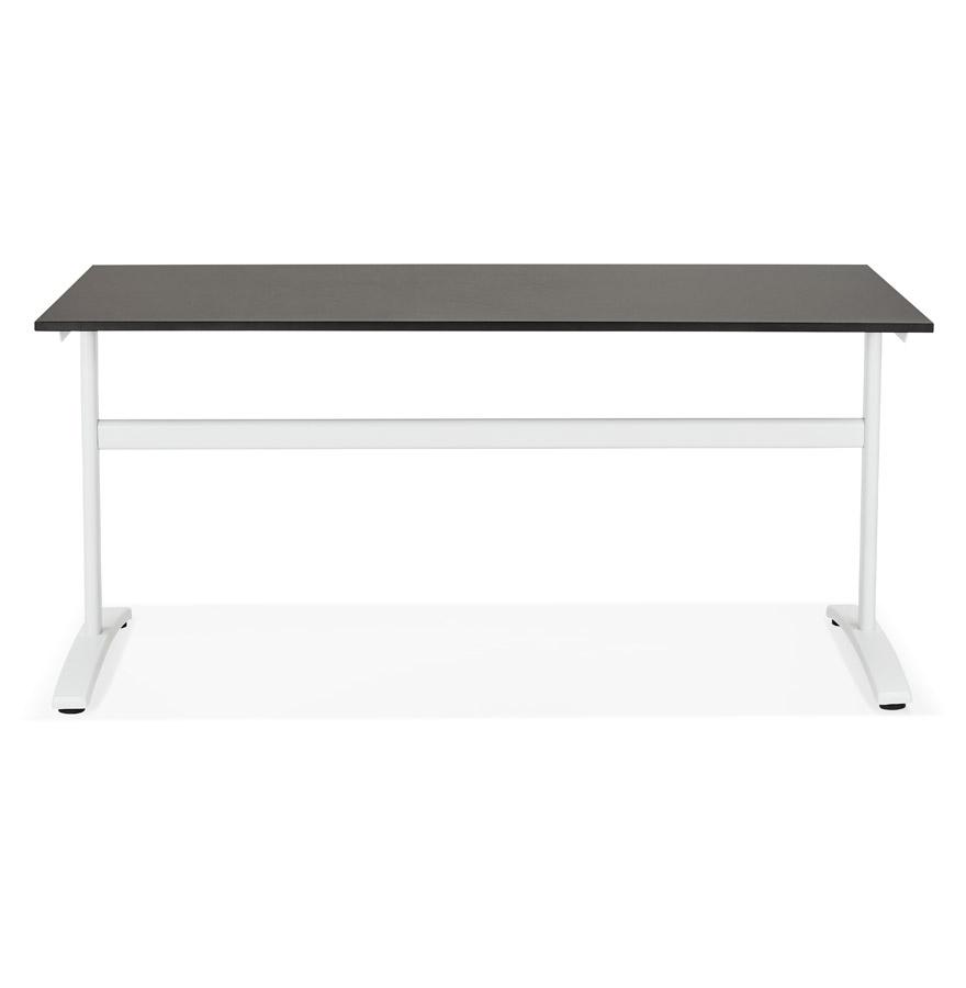 Grand bureau droit ´CRYPTO´ noir - 160x80 cm